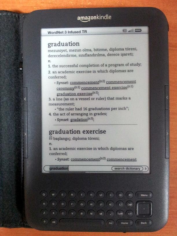 Kindle da türkçe sözlük ve faydalı bilgiler